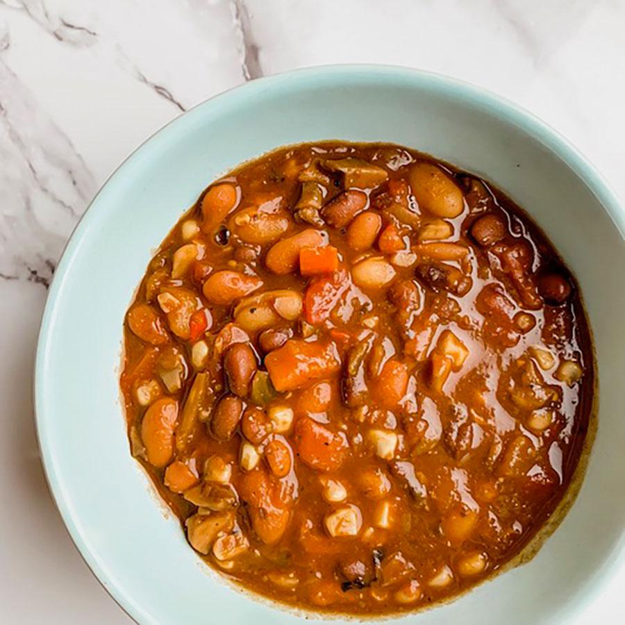 Three Bean Vegetarian Soup